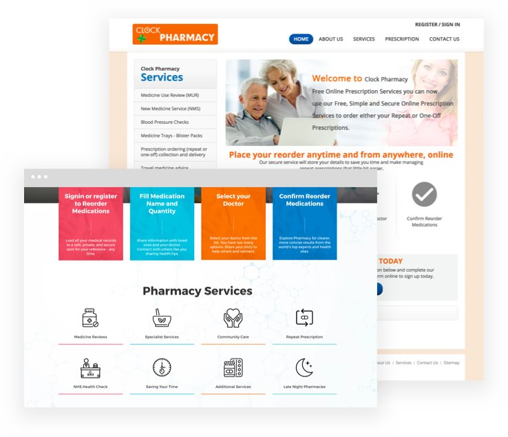 First class website designs for first class pharmacies!